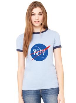 Sigma Delta NASA Ladies Ringer Tee