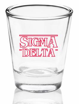 Sigma Delta Stranger Things Shot Glass