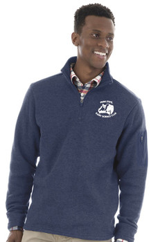 DS Charles River Apparel Heathered Quarter Zip