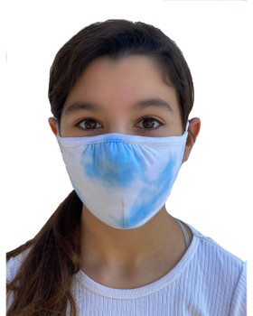 Tie Dye Cloud Blue Adjustable Face Mask