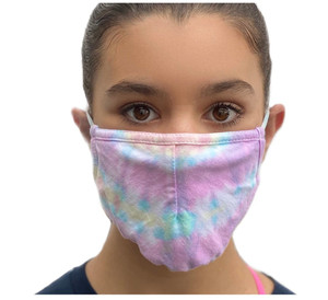 Tie Dye Sherbert Adjustable Face Mask