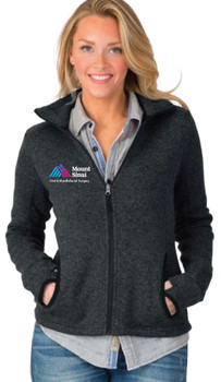 Mount Sinai Oral & Maxillofacial Surgery Charles River Apparel Ladies Full-Zip Heathered Fleece Jacket