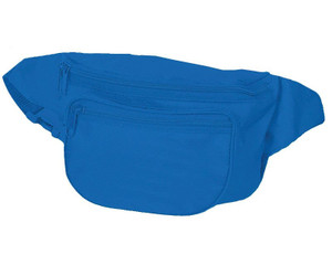 Three Pocket Nylon Fanny Pack