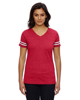 LAT Drop Ship Ladies' Football Fine Jersey T-Shirt