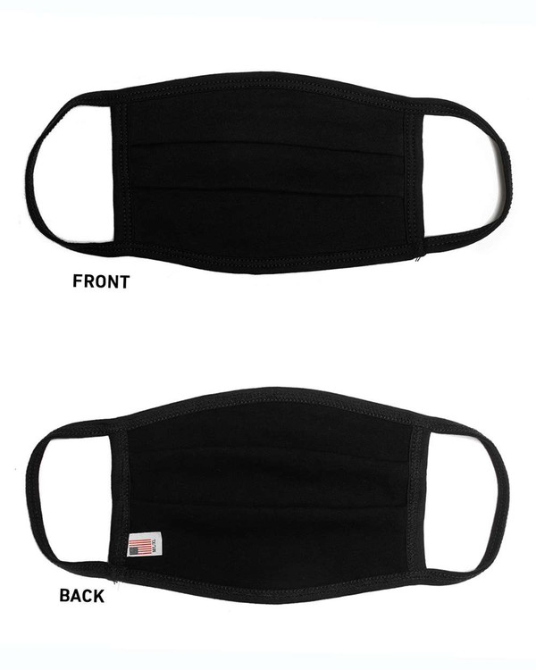 Solid Pleated Cotton Facemask