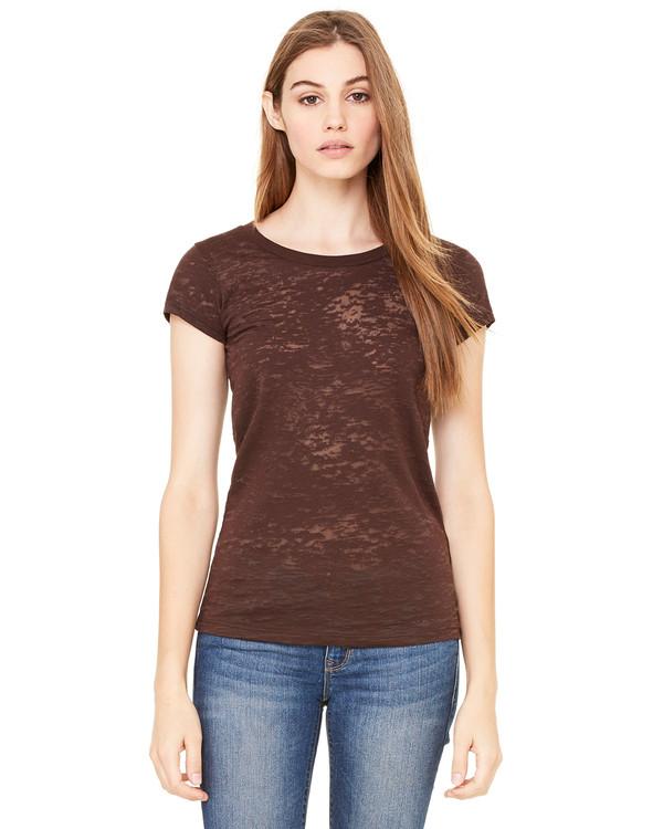 5d412339e8ee Bella Ladies  Burnout T-Shirt - Clothes On