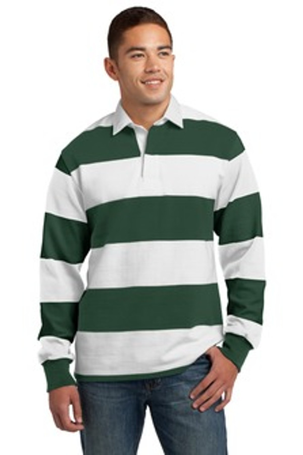 Striped Rugby Polo Clothes On