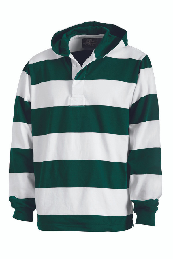 Charles River Hooded Rugby Polo Clothes On