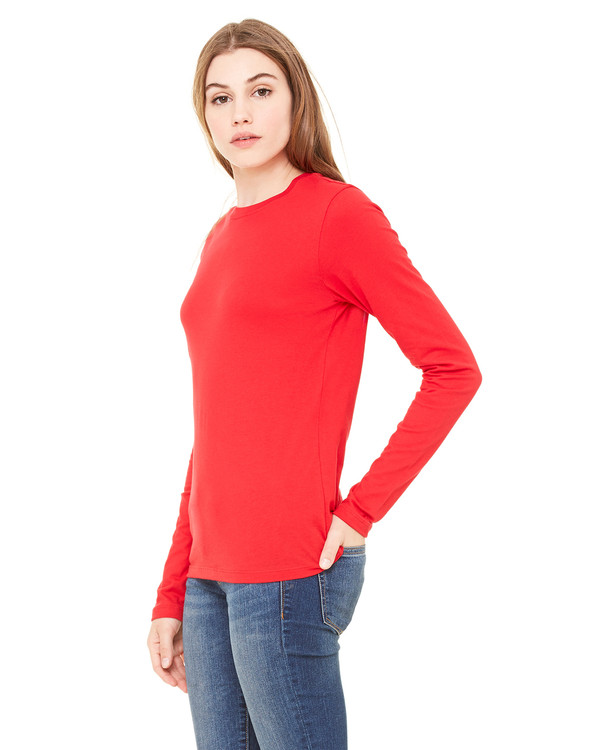 3917cae27d1c Bella Ladies' Jersey Long-Sleeve T-Shirt - Clothes On