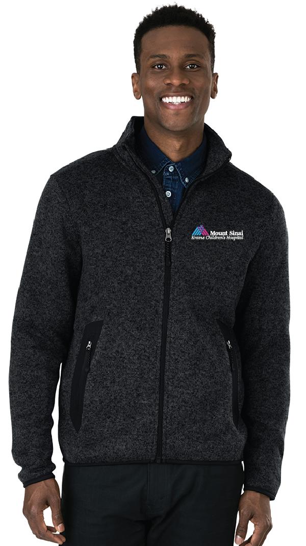 Kravis Children's Hospital Charles River Apparel Men's Full-Zip Heathered Fleece Jacket
