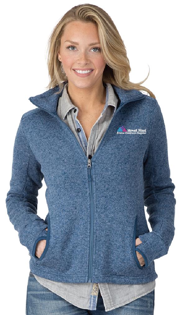 Kravis Children's Hospital Charles River Apparel Ladies Full-Zip Heathered Fleece Jacket