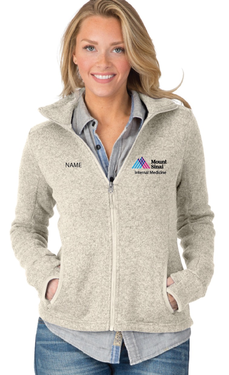 Mount Sinai IM Charles River Apparel Ladies Full-Zip Heathered Fleece Jacket