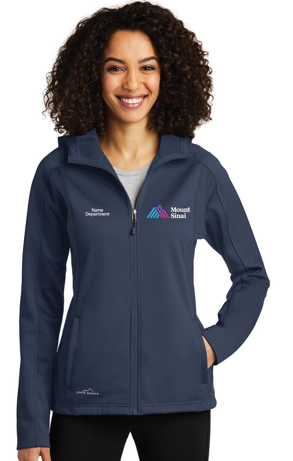 Mount Sinai Beth Israel Eddie Bauer Ladies Hooded Soft Shell Jacket