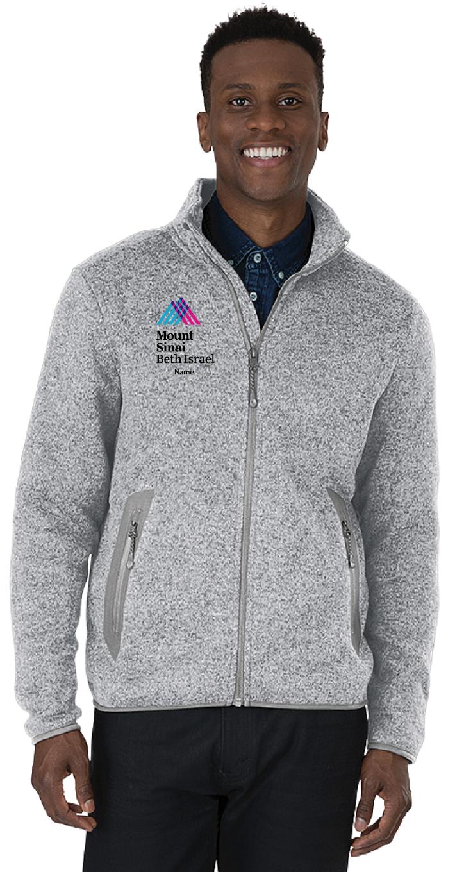 Mount Sinai Beth Israel Charles River Apparel Men's Full-Zip Heathered Fleece Jacket