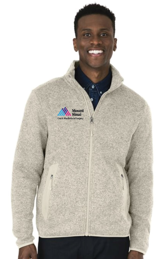 Mount Sinai Oral & Maxillofacial Surgery Charles River Apparel Men's Full-Zip Heathered Fleece Jacket