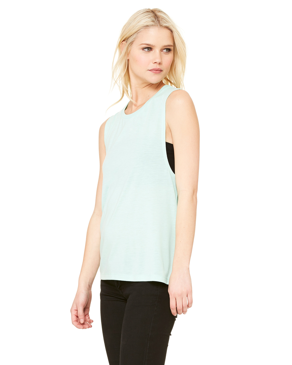 Bella Ladies Flowy Scoop Muscle Tank