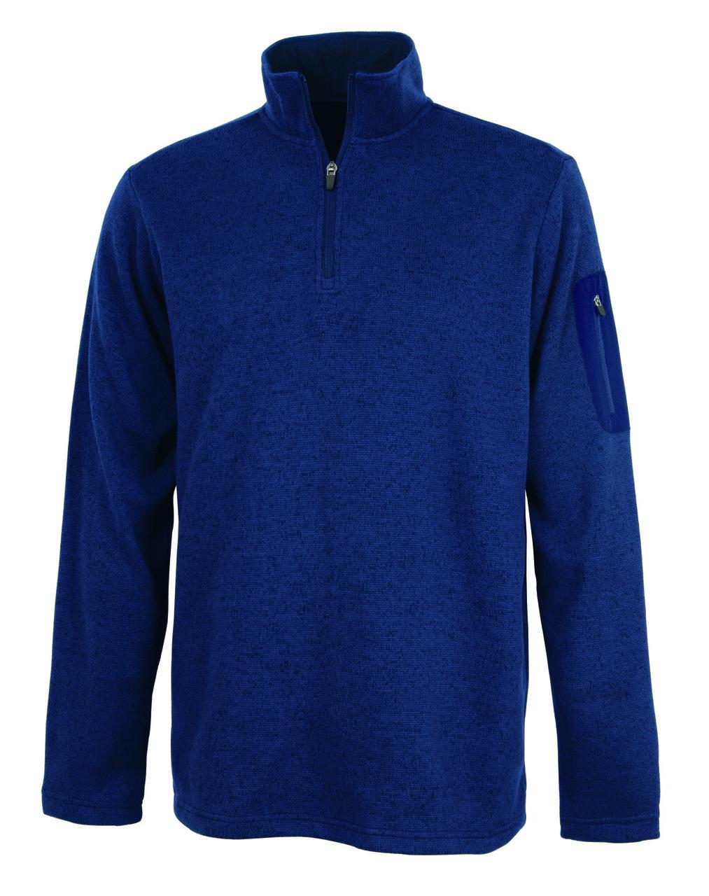 Charles River Apparel Men's Heathered 1/4 Zip Fleece