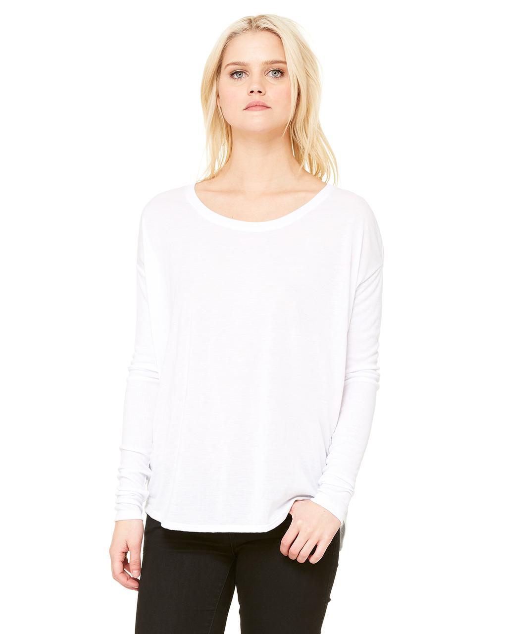 Bella Ladies' Flowy Long-Sleeve T-Shirt with 2x1 Sleeves