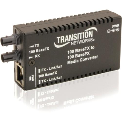 M/E-TX-FX-01-NA - Transition Stand-Alone Mini Fast Ethernet Media Converter