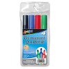 4 Chisel Tip Permanent Markers, Red Blue Green Black (90004)