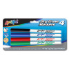 4 Fine Tip Dry Erase Markers, Red Blue Green Black (26040)
