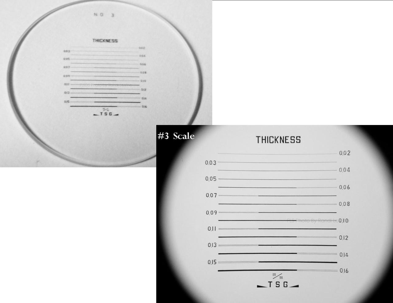 Optical Comparator Reticles , Peak Scale for 10X Loupe 1983 , Ret-1983-3 , #3 Scale