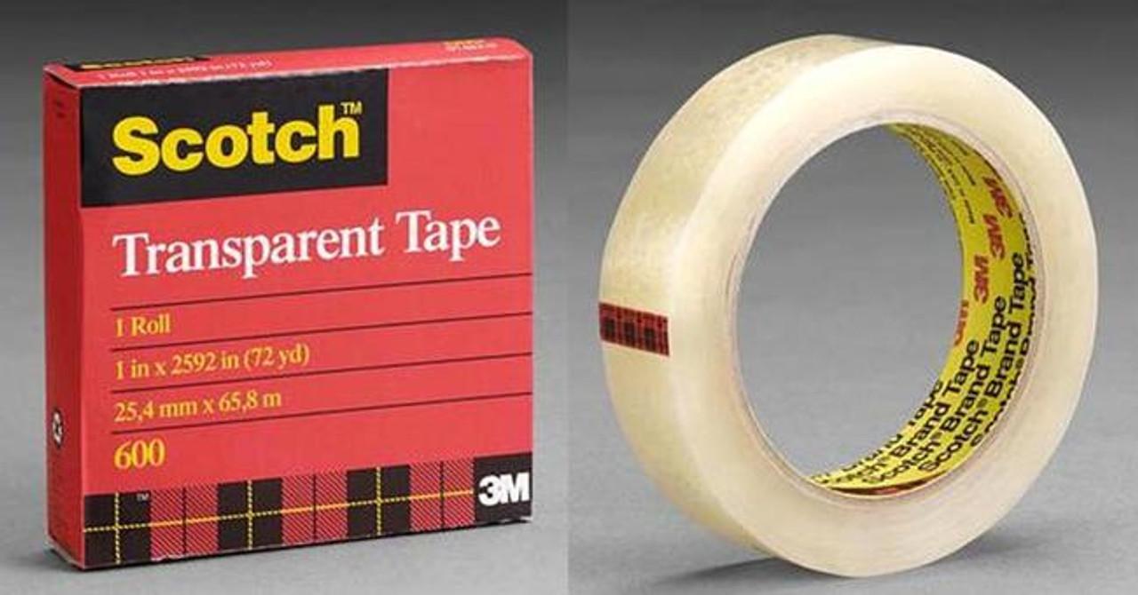 """3M Clear Sealing Tape Scotch 600 3/4"""" x 2592 in"""