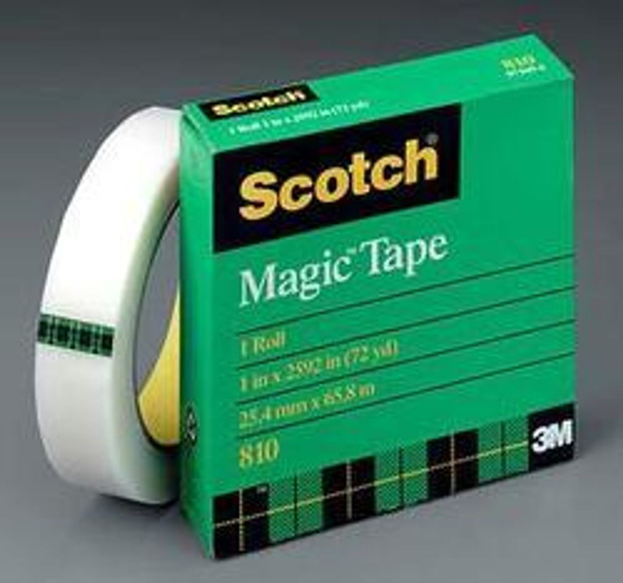 Magic Tape, 1/2 x 2592, on 3 in Core, Scotch, 3M 810