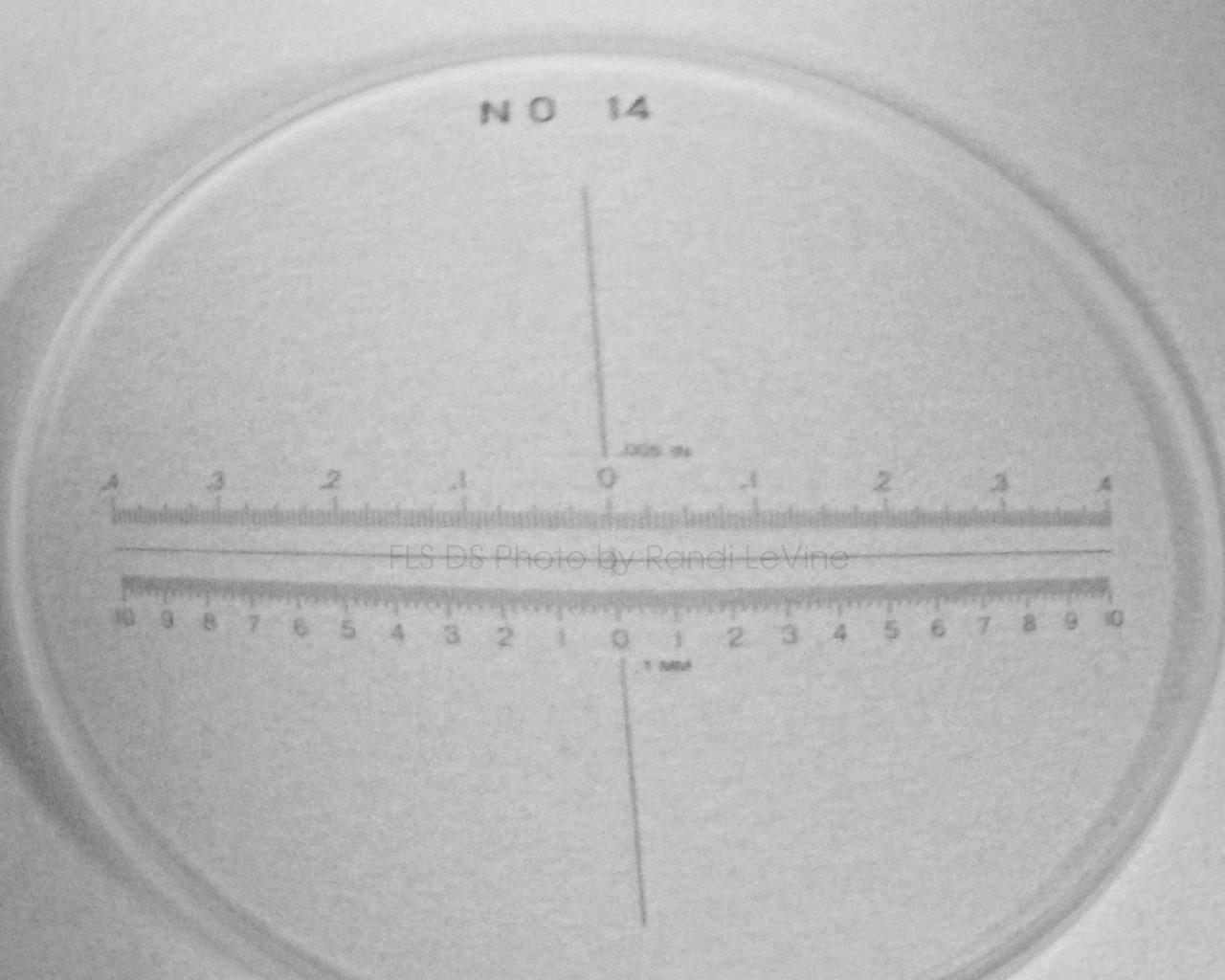 #14 Scale, Peak Scale Loupe Measuring Magnifier 7X 1975 , pk-1975-14