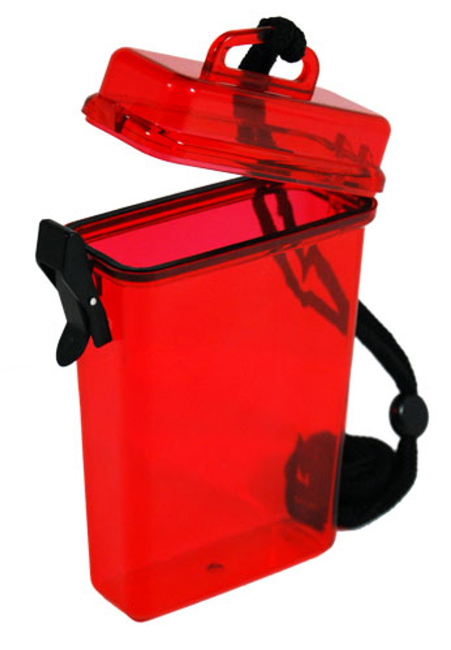Red Waterproof Container Travel Money n Phone Holder WP694 image 6