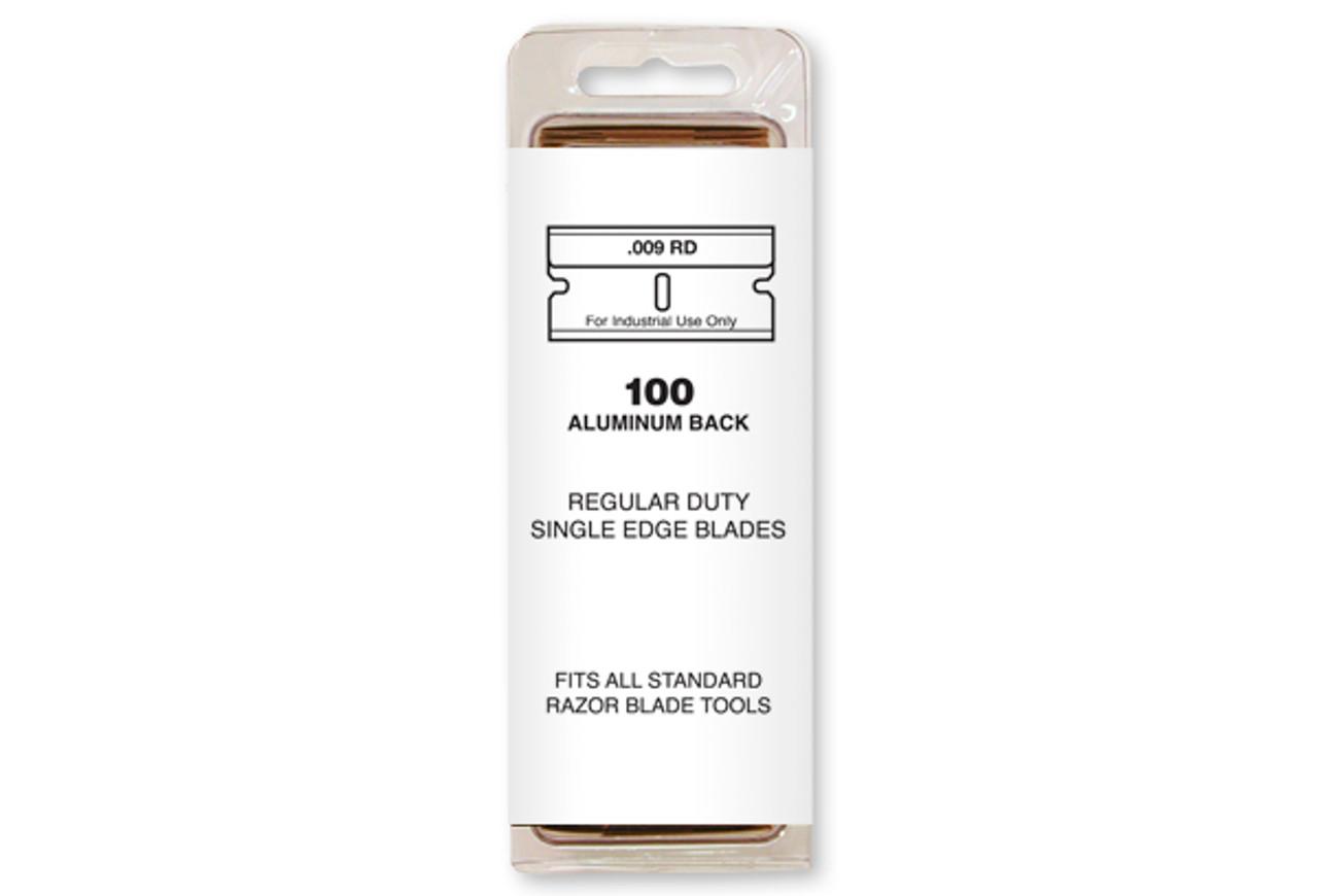 Single Edge Razor Blades 100 box Blade 9 , was SE1-100 now 94-0115, Aluminum backed, Personna
