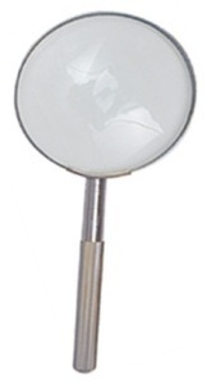 Reading Magnifier 3X Metal Hand Held Magnifying Glass (MM2025)
