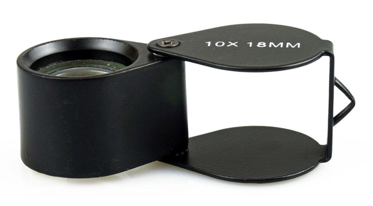 10X 18mm Loupe, Black, Teardrop Magnifier , MJ381018B