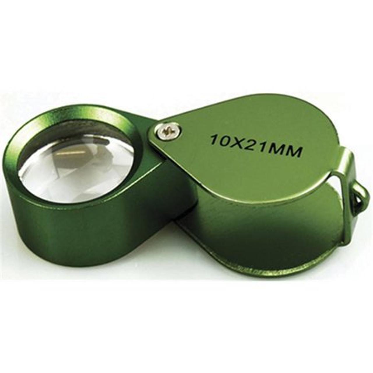 Green Goblin Metal Magnifier Loupe 10X 21mm Glass Lens (so-MK994-8GN)