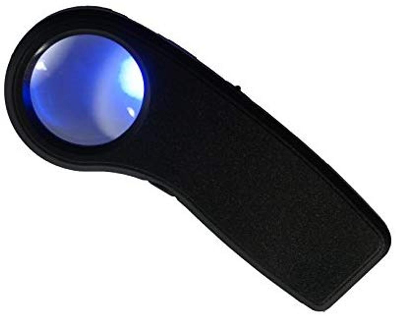 LED UV Lighted Pocket Magnifier 8X ML911LV-8X