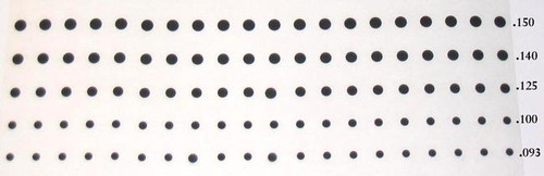Solid Donut Pads, OD,  .093, .100, .125, .140, .150, Group A,  SDP GrpA
