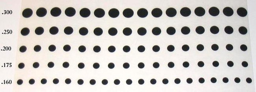 Solid Donut Pads, OD .160, .175, .250 Group B,  SDP GrpB