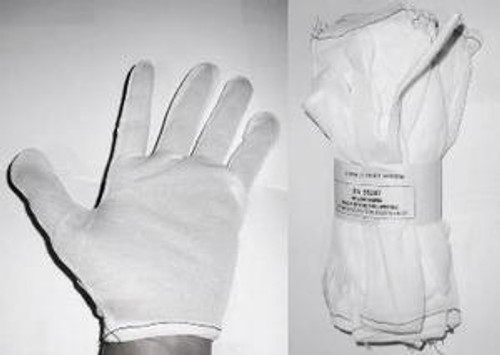 White Nylon Inspection Gloves Large L , N650L