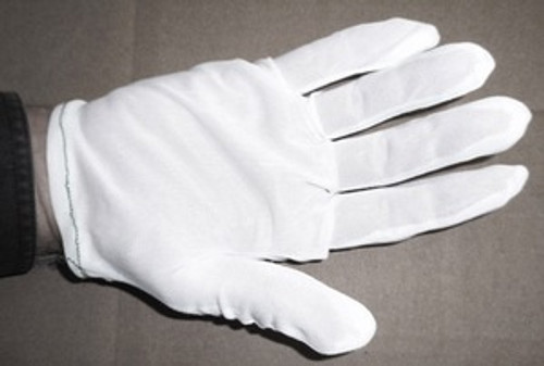 White Nylon Inspection Gloves X LARGE XL 1 Dz (N651XL)