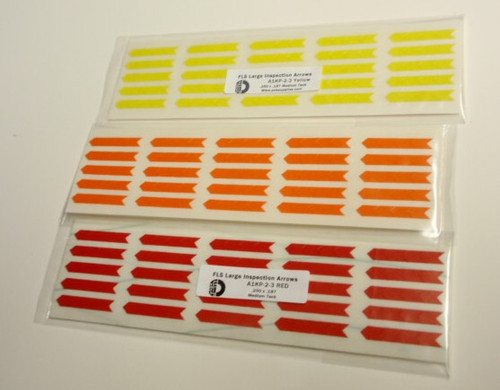 Inspection Arrows , A1KP-2-3, FLS Large Medium Tack Colored Stickers