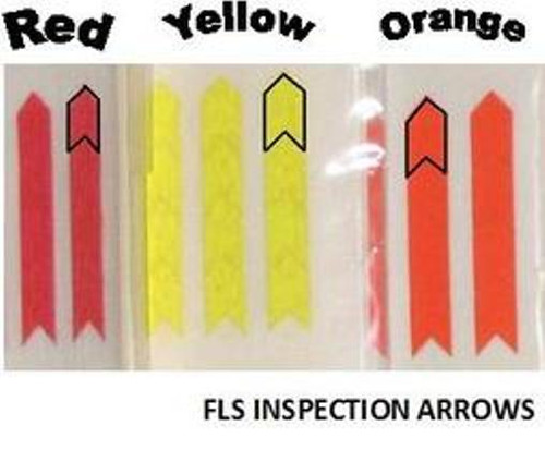 Inspection Arrows , A1KP-2-3, FLS Large Medium Tack Colored Stickers , Image 2