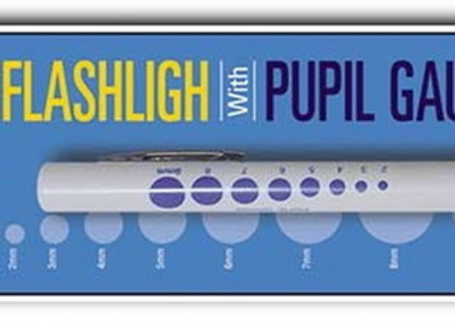 Pupil Light , Pen Penlight , w/ Gauge , 6 Pack , md-FL1021BULK-6