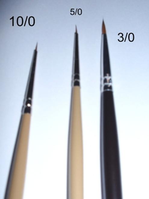 Sable, Art Brushes, Script Brush, 10/0, 5/0, or 3/0, 178