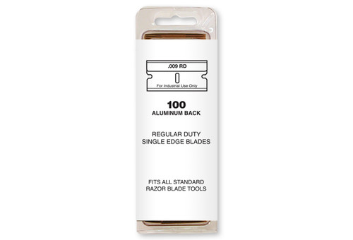 Single Edge Razor Blades, .009, 9, Bulk Case, 50 boxes of 100 , SE1-CS, personna, aluminum back, 94-0115-cs