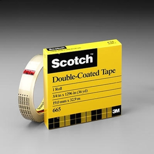 "Scotch Double Sided Tape 3M 665 1/2"" x 1296"""
