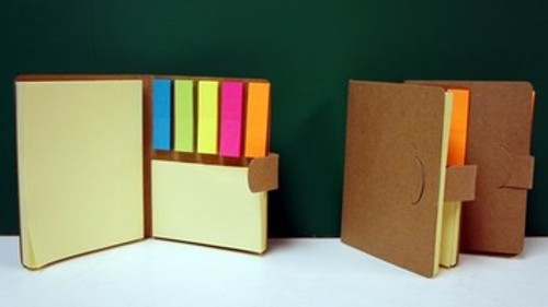 Sticky Note Flags & Pad Booklet (HJ-Stickys)