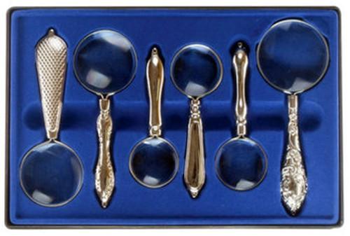 Reading Magnifier , Gift Set , 6pcs , Silver , so-MI1406MD