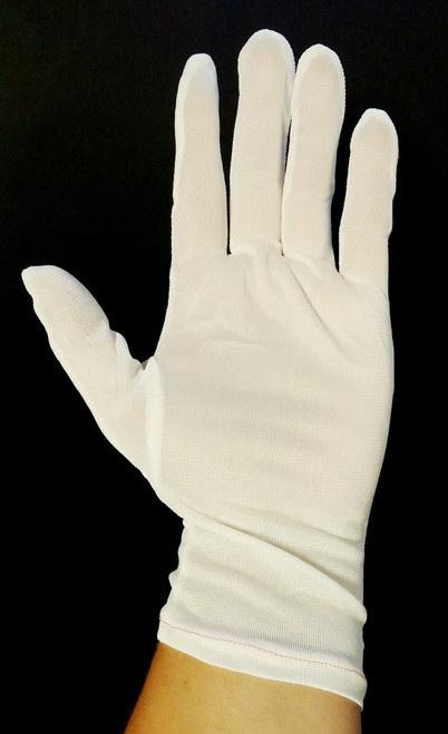 White, Nylon, Inspection Gloves, Small, S, N650S