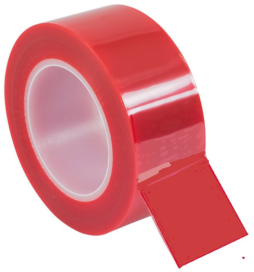 """Electro plating process tape 1 1/2"""" x 72 yd Red fls-M717-281-1.5, 38mm"""