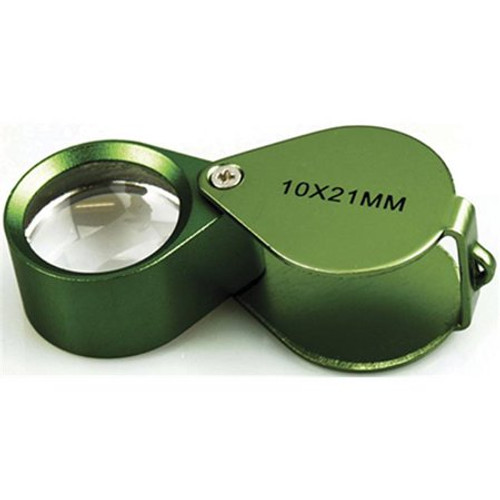 Green Goblin Metal Magnifier Loupe 10X 21mm Glass Lens (so-MK994-8GN)